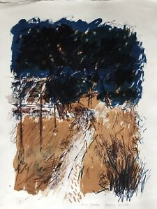 GERALD WOODS 1942-2004 Ltd Edition lithograph Back Garden 60s featured in book