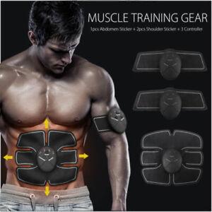 EMS Electronic Abdominal Muscle Toning Belt Stimulator Toner Arms Shaping Gym UK