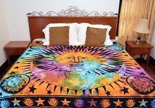 Sun Moon Mandala Duvet Doona cover Hippie Bedding Coverlet Set Indian Blanket