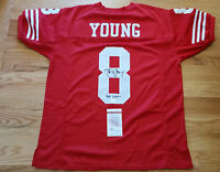 Steve Young Autographed/Signed SF 49ers Jersey w/HOF 2005 insc JSA Witness COA