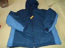 Young man winter coat ~ Size 14/16 ~ Blue ~ Reversible ~ Hood ~ Never worn ~