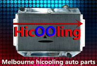 ALUMINUM RADIATOR FOR HOLDEN KINGSWOOD TORANA HQ HJ HX HZ V8 CHEVY ENGINE AT