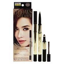 Mistine 3D Brown Secret Brow Set Pencil Brow Shadow Mascara No.1 Dark Brown