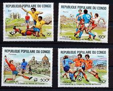 Timbres Congo FOOTBALL ITALIA 90 serie complete MNH  Scott C392/5   88M621