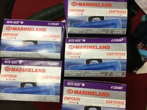 marineland emperor power filter cartridge size E five boxes total of 20 filters