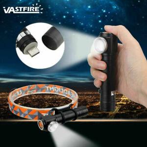 Mini Zoom Headlight Torch Flashlight Focus Headlamp 3Modes T6 LED Light 1000LM