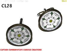 steampunk cufflinks bronze Yorkshire white rose House of York  #CL28