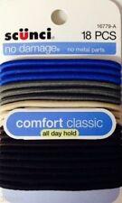 Scunci No Damage Elastic Hair Bands,Mixed Colors Denim, 18 ct.