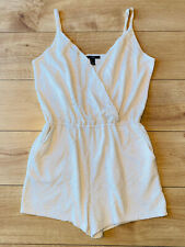 New listing FOREVER 21 Cream CROCHET STYLE lined SHORTS PLAYSUIT ALL IN ONE size Large