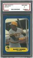 BARRY BONDS 1986 FLEER UPDATE #U-14 ROOKIE ~ BSG 8