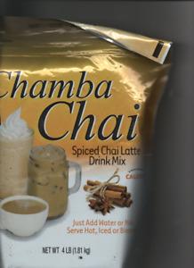 Chamba Chai Spiced Chai Latte Drink Mix, PKG 4 lbsBEST BY OCT 2001