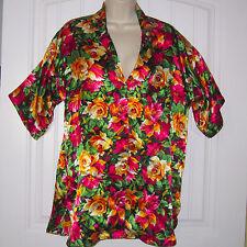 Small VICTORIA'S SECRET Floral Print Satin Sleepshirt Nightgown Sleep Nite Shirt