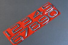 Holden HSV Commodore VE VF Bootlid Number Badges SILVER other colors available