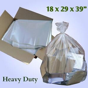 HEAVY DUTY Clear Refuse Sacks / Bags 160 GAUGE Strong Bin Liners Rubbish Bag
