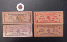 New Listing1936 Manitowoc County Wi Centennial Encased Penny & Wooden Nickel Souvenirs