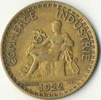 COIN / FRANCE / 1 FRANC 1922 CHAMBERS DE COMMERCE  #WT7830