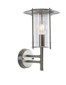 Saxby Lighting York 1lt wall IP44 60W - polished s - 4478182