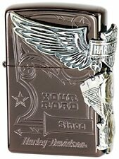 ZIPPO Harley Davidson Japan Limited Titanium Coating Brown Silver HDP-49