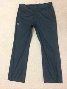 Men's Under Armour Tracksuit Trousers Size XL Black Loose Fit Good Condition