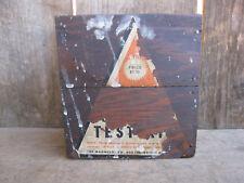 "New listing Vintage Wood Box Test Kit for ""Magnesol"""