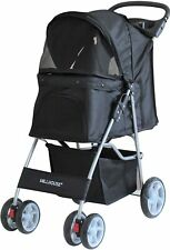 Pet Travel Stroller Dog Cat Pushchair Pram Jogger Buggy With 4 Wheels