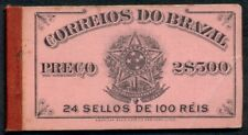 BRAZIL #177a, 100r anil.rose, Complete booklet 4 panes of 6, og, NH, scarce