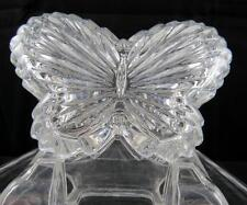 """STUDIO CRYSTAL AMORE COLLECTION BUTTERFLY 4 1/4"""" TRINKET BOX WITH LID"""