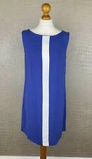 MANGO Casual Damen Gr. M 38-40 Kleid Dress blau weiß Longtop Top Tunika 4B3