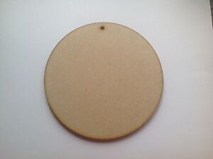 Circles,5 x Wooden Craft Shapes.15cm by 15cm, 4mm thick. with hole