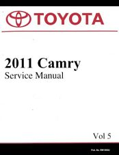 2011 toyota camry service schedule