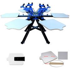 6 color screen printing machine silk screen printing press DIY LOGO machine