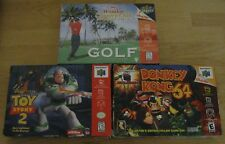 Donkey Kong 64 Toy Story 2 Waialae Country Club Golf Nintendo 64 N64 Lot in Box