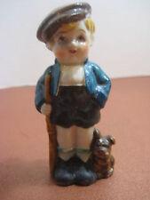 "Vintage Boy and Puppy Dog Figurine 4"" Occupied Japan"