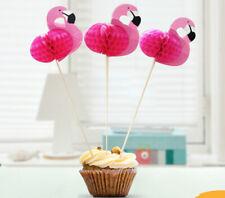 15 x Flamingo Cupcake Toppers Cake Decorations Birthday Children Novelty Picks