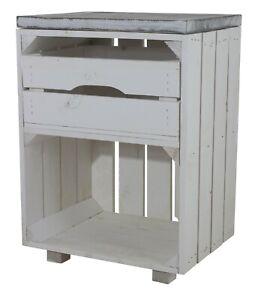 Süßer weißer Nachttisch mit Schublade, 30,5x40x57cm Weinkisten Paletten