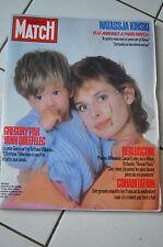 REVUE PARIS MATCH N°1906/1985 NATASSJA KINSKI /YANN QUEFFELEC GREGORY/BERLUSCONI