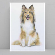 Original Drawing, Colored Pencil On Paper , Dog, Happy Dog