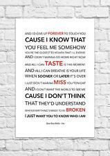 Goo Goo Dolls - Iris - Song Lyric Art Poster - A4 Size