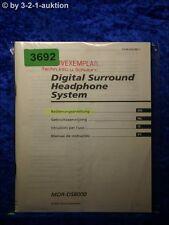 Sony Bedienungsanleitung MDR DS8000 Digital Surround Headphone System (#3692)