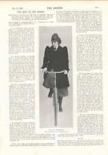 1901 Miss Olga Nethersole Bicycle Pose Mclarens Cricket Team In Australia