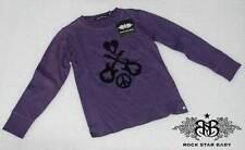 Rsb Rock Star Baby Children Long Sleeve Beautiful T-Shirt Purple 2-4 Years