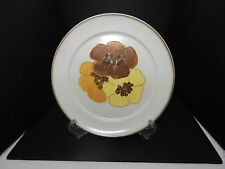"Denby Potpourri Dinner Plate Cream w Florals 9 7/8"" D"