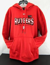 Rutgers Football Hoodie Scarlet Knights Red Under Armour Sweatshirt Men Size XXL