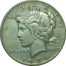 1934 D  Peace Silver Dollar  **Small Mint Mark** (item #732)