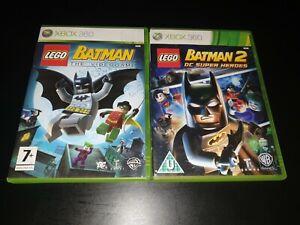 Lego Batman & DC Super Heroes (1 & 2) Xbox 360 Kids Game/Games Bundle Collection