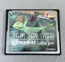 Kingston 2GB Elite Pro CompactFlash Card 50x Speed CF/2GB-S