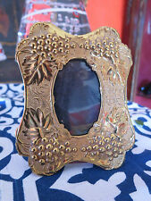 Antique Victorian Repose Brass small size  Photo Frame