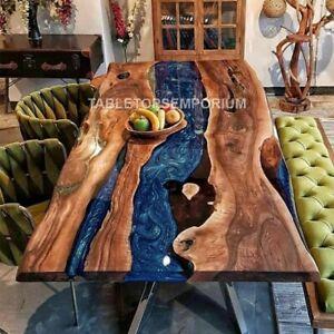 Handmade  Epoxy Table, dining, sofa, center table top Acacia Wooden Table Tops