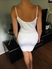 Azzedine Alaia Sexy Fitted Vintage White Dress Size S