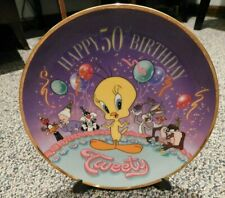 Happy 50th Birthday Tweety Collector's Plate